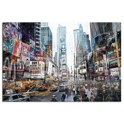 Modern Home 'Times Square New York 2' Photographic Print TGA-NYTS3D2