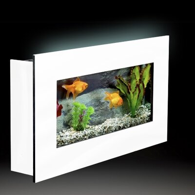 Aussie 2.5 Gallon Wall Mounted Aquarium Tank Color: White