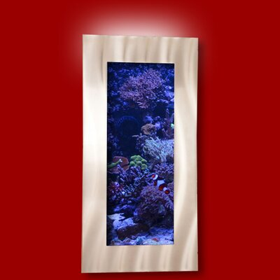 Aussie 5 Gallon Wall Mounted Aquarium Tank Color: Silver