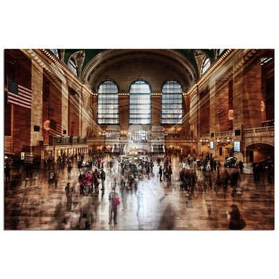 Modern Home '3D Grand Central Station New York' Photographic Print TGA-NYGCS1