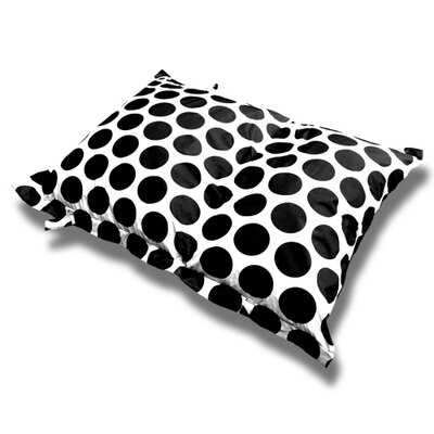Sol Bean Bag Chair Upholstery: White/Black