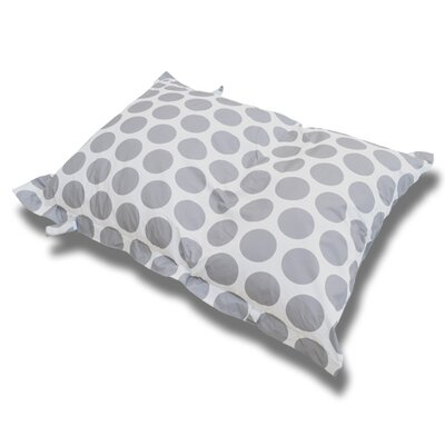 Sol Bean Bag Chair Upholstery: White/Silver