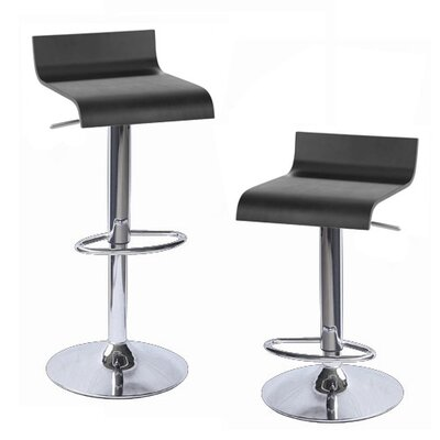 Sigma Adjustable Height Swivel Bar Stool Finish: Black