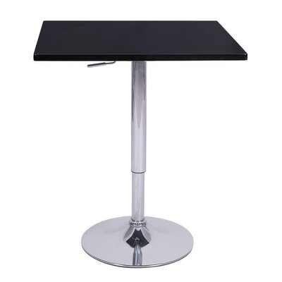 Zeta Adjustable Height Pub Table Color: Black