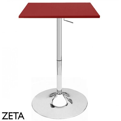 Zeta Adjustable Height Pub Table Finish: Red