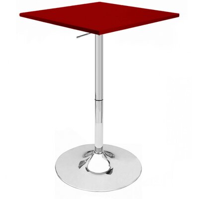 Zeta Pub Table Finish: Red