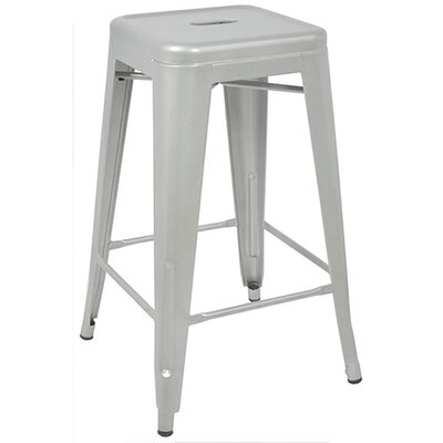 Ajax 24 Bar Stool Finish: Matte Silver