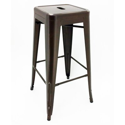 Ajax Bar Stool Finish: Distressed Copper