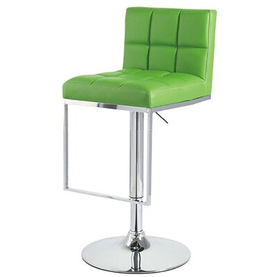 Alex Adjustable Height Swivel Bar Stool Upholstery: Lime Green
