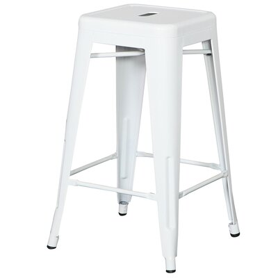 Ajax 24 Bar Stool Finish: White