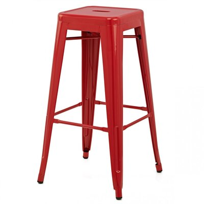 Ajax Bar Stool Finish: Red