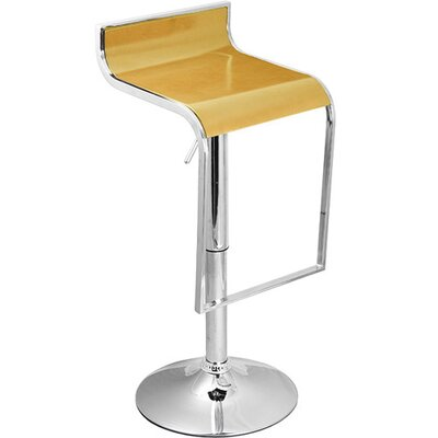 Omega Adjustable Height Swivel Bar Stool Finish: White Maple