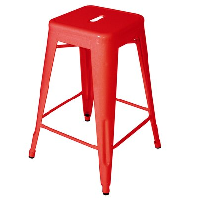 Ajax 24 Bar Stool Finish: Red