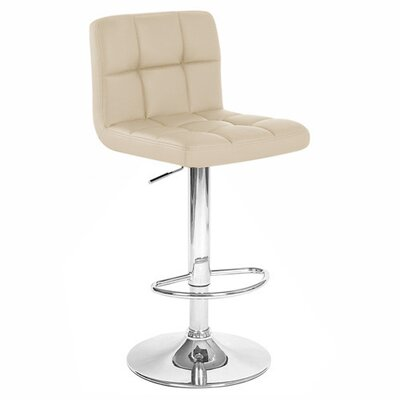 Boris Adjustable Height Swivel Bar Stool Upholstery: Toffee