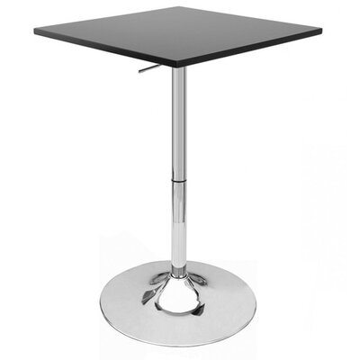 Zeta Pub Table Finish: Black