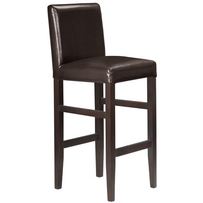 Kendall 29.5 Bar Stool Upholstery: Espresso