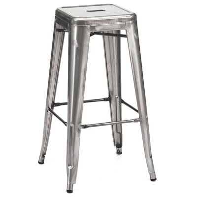 Ajax 30 Bar Stool Finish: Gunmetal