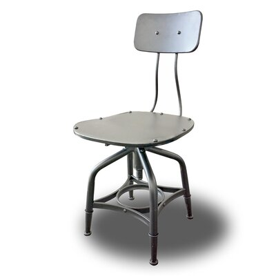 Vernon Adjustable Height Swivel Bar Stool Finish: Grey