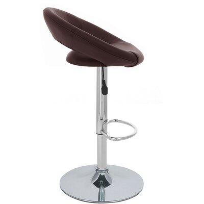Rho Adjustable Height Swivel Bar Stool Upholstery: Brown