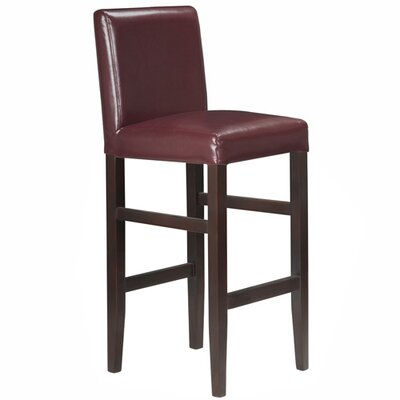 Kendall 29.5 inch Bar Stool Upholstery: Red