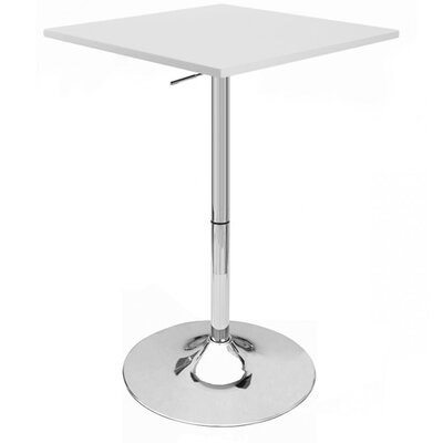 Zeta Adjustable Height Pub Table Finish: White