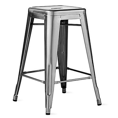 Ajax 24 Bar Stool Finish: Gunmetal