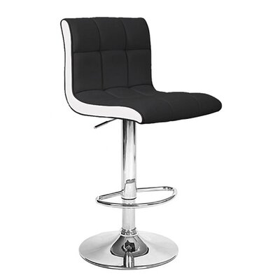 Boris Adjustable Height Swivel Bar Stool Upholstery: Salt/Pepper
