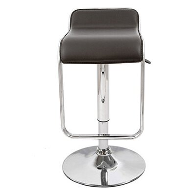 Omega Adjustable Height Swivel Bar Stool Upholstery: Black