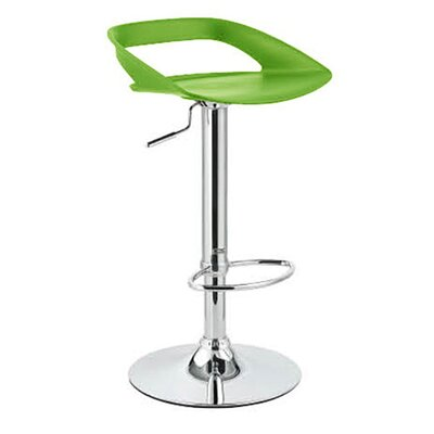 Chi Adjustable Height Swivel Bar Stool Finish: Lime Green