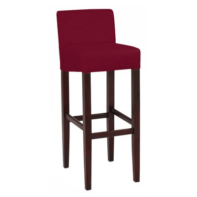 Brooklyn 32 Bar Stool Upholstery: Red