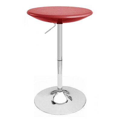 Alpha Adjustable Height Pub Table Color: Red