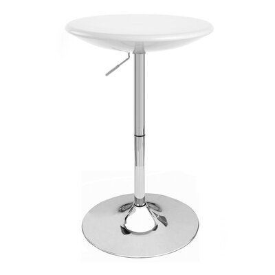 Alpha Adjustable Height Pub Table Finish: White