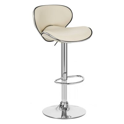 Kappa Adjustable Height Swivel Bar Stool Upholstery: Latte