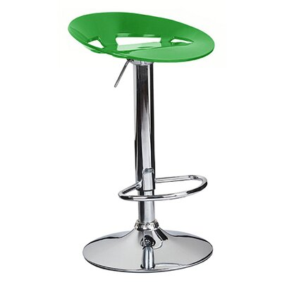 Manhattan Adjustable Height Swivel Bar Stool Finish: Lime