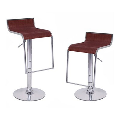 Omega Adjustable Height Swivel Bar Stool Finish: Espresso