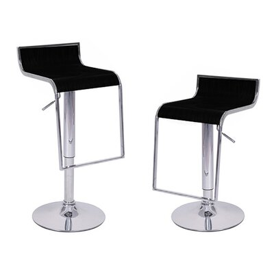 Omega Adjustable Height Swivel Bar Stool Finish: Black