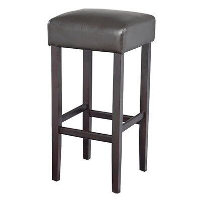 Piper 32 Bar Stool Upholstery: Brown