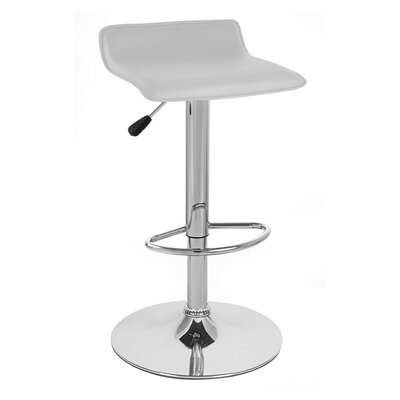 Sigma Adjustable Height Swivel Bar Stool Upholstery: White