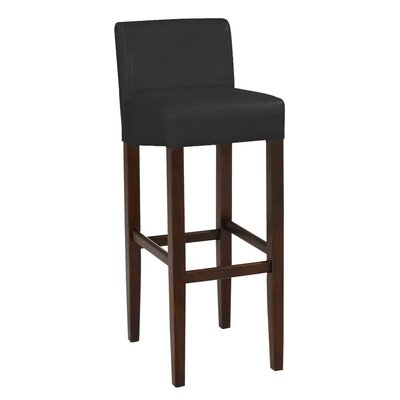 Brooklyn 32 Bar Stool Upholstery: Black