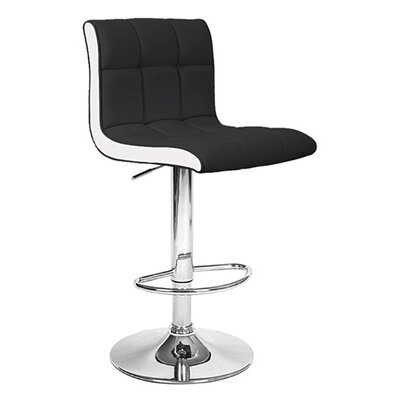 Boris Adjustable Height Swivel Bar Stool Upholstery: Salt / Pepper