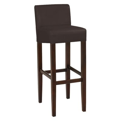 Brooklyn 30 Bar Stool Upholstery: Brown