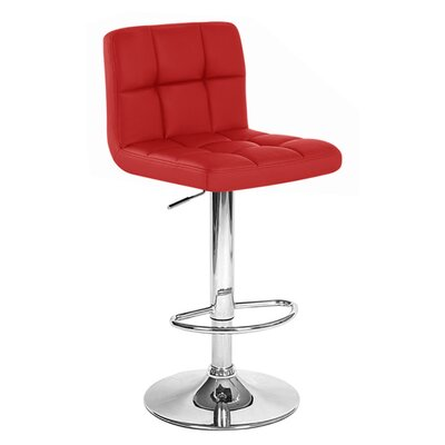 Boris Adjustable Height Swivel Bar Stool Upholstery: Merlot