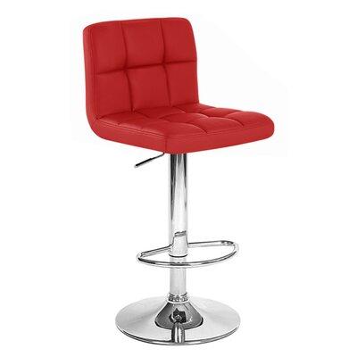 Boris Adjustable Height Swivel Bar Stool Upholstery: Merlot