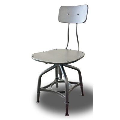 Vernon Adjustable Height Bar Stool Finish: Grey