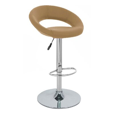 Rho Adjustable Height Swivel Bar Stool Finish: Merlot