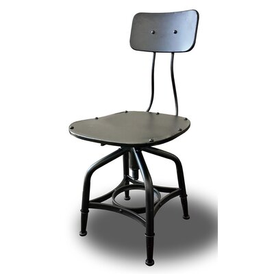 Vernon Adjustable Height Bar Stool Finish: Black