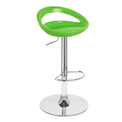 Rho Adjustable Height Swivel Bar Stool Finish: Lime