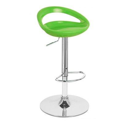 Rho Adjustable Height Swivel Bar Stool Finish: Lime