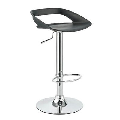 Chi Adjustable Height Swivel Bar Stool Finish: Black