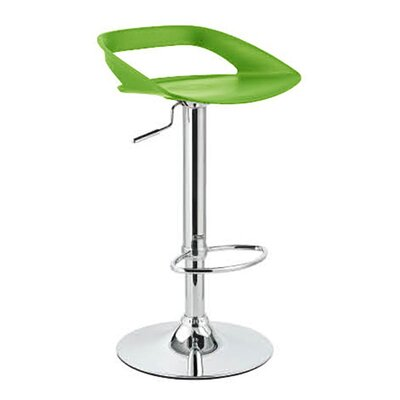 Chi Adjustable Height Swivel Bar Stool Finish: Lime
